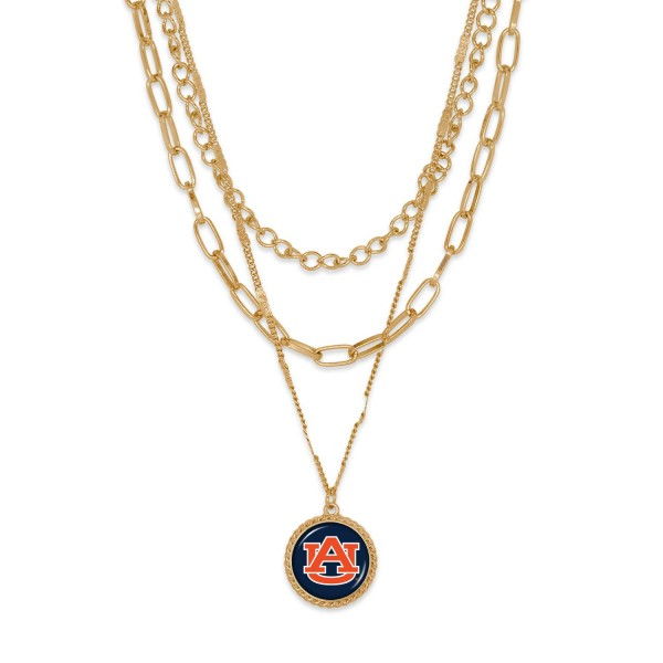 """Aubrun Gold Chain Link Charm Bracelet.  - Pendant Approximately 1"""" in Diameter - Necklace Approximately 18.5"""" in Length - Extender Approximately 2.5"""" in Length"""