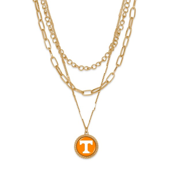 """Tennessee Gold Chain Link Charm Bracelet.  - Pendant Approximately 1"""" in Diameter - Necklace Approximately 18.5"""" in Length - Extender Approximately 2.5"""" in Length"""