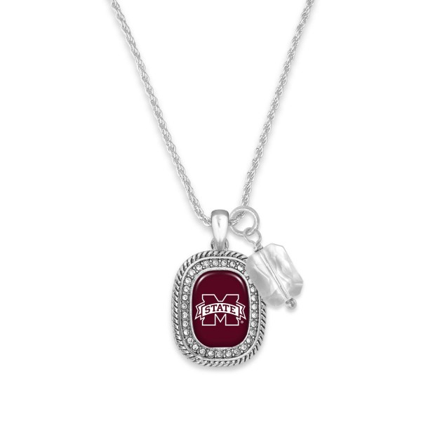 """Collegiate Chain Link Necklaces Featuring Stone Charm.   - Approximately 9.5"""" in Length"""