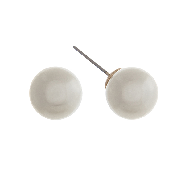 Wholesale ivory Pearl Stud Earrings Diameter