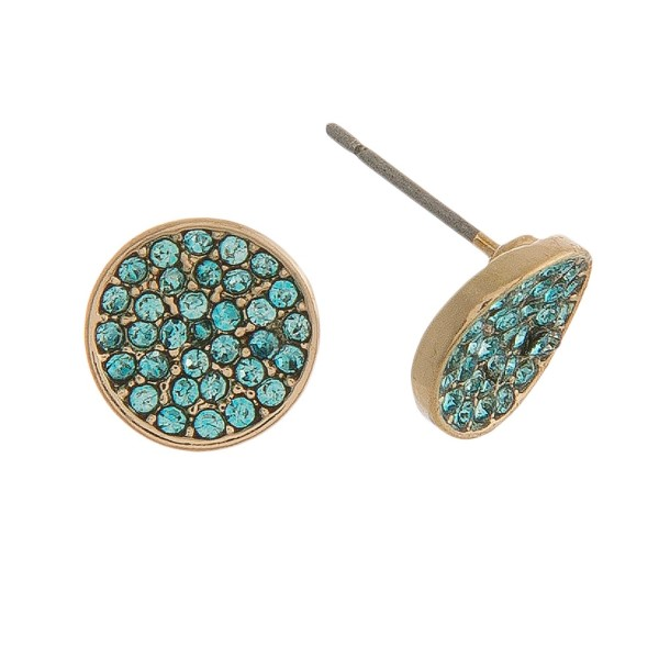 "Rhinestone Stud Earrings.  - Approximately .5"" in Diameter"