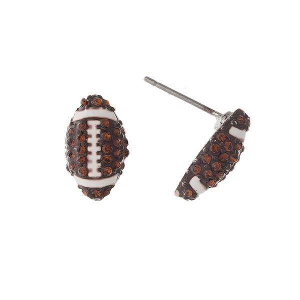 Wholesale rhinestone sports ball earring