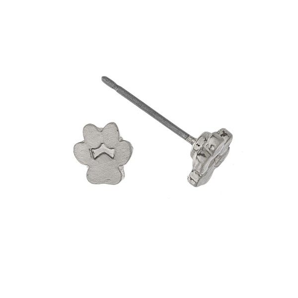 "Paw print earring. Approximately 1/4"" in size."