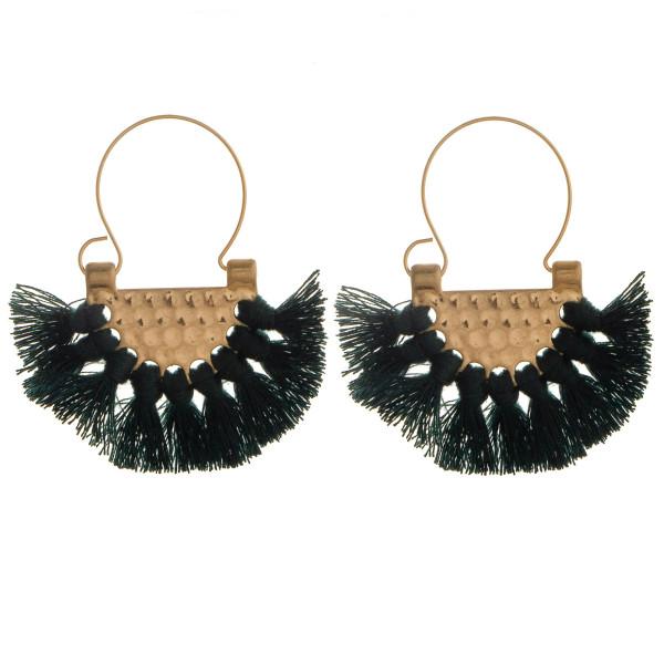Wholesale short fanned tasseled earring Approximate diameter