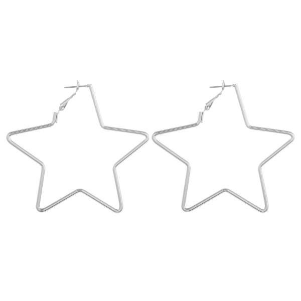 Wholesale long metal star earrings Approximate