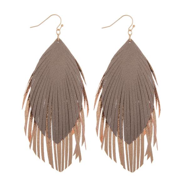 """Long double drop fishhook earring. Approximate 3"""" in length."""