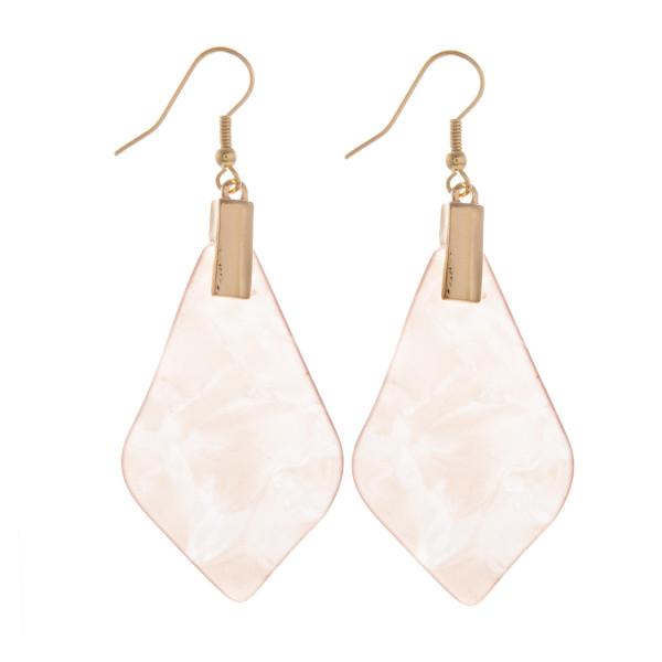Wholesale long fish hook acetate earrings Approximate