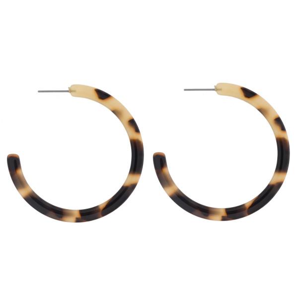 Wholesale long tortoise acetate hoop earrings diameter