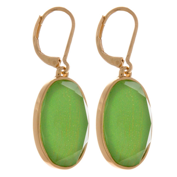 """Iridescent acrylic stone inspired drop earrings. Approximately 1"""" in length."""