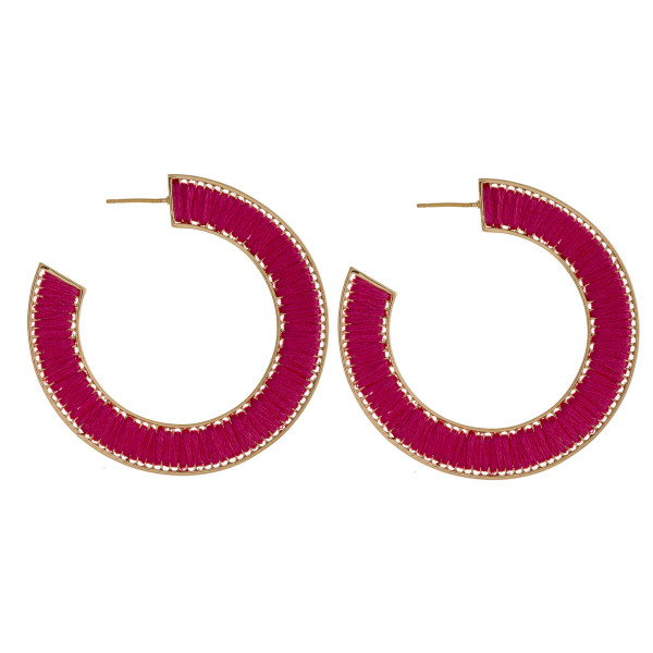 Wholesale thread wrapped open hoop earrings diameter