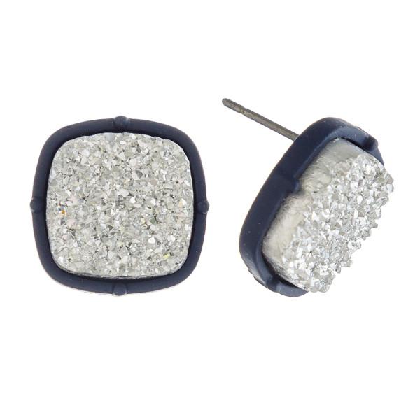 Wholesale druzy stud earrings diameter
