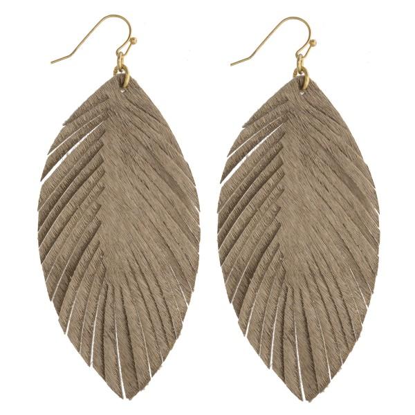 Wholesale faux fur feather drop earrings
