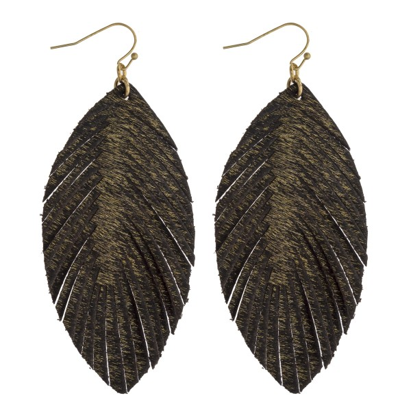 Wholesale faux fur feather drop earrings