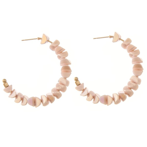 Wholesale faceted Sequin Beaded Statement Hoop Earrings diameter