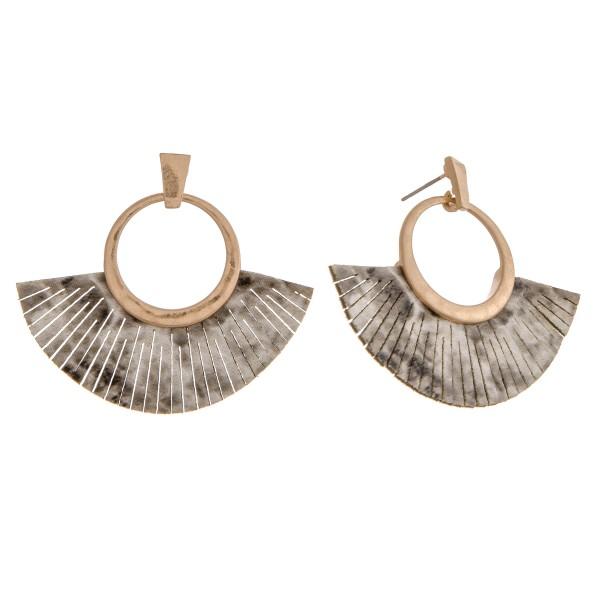 """Faux leather snakeskin tassel earrings.   - Approximately 2"""" in length"""