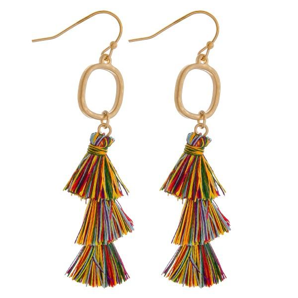 Wholesale fan tassel drop earrings