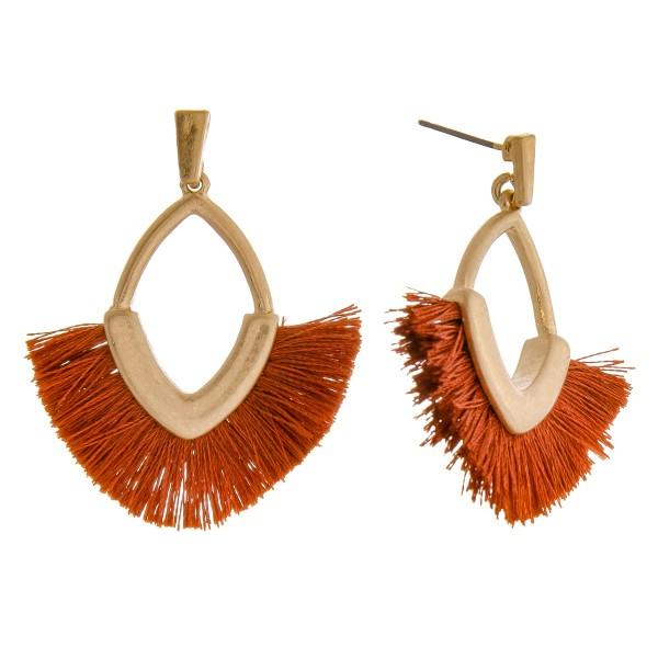"""Fringe tassel drop earrings.  - Approximately 1.75"""" L"""