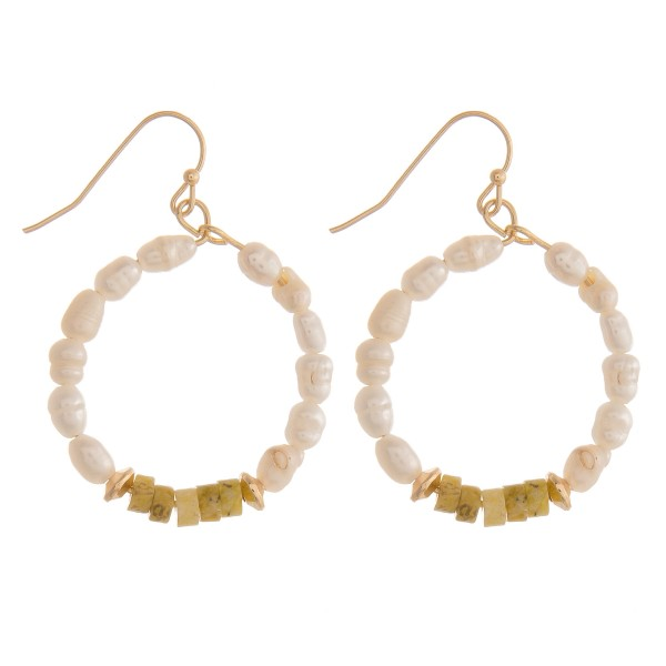 Wholesale natural stone pearl beaded earrings