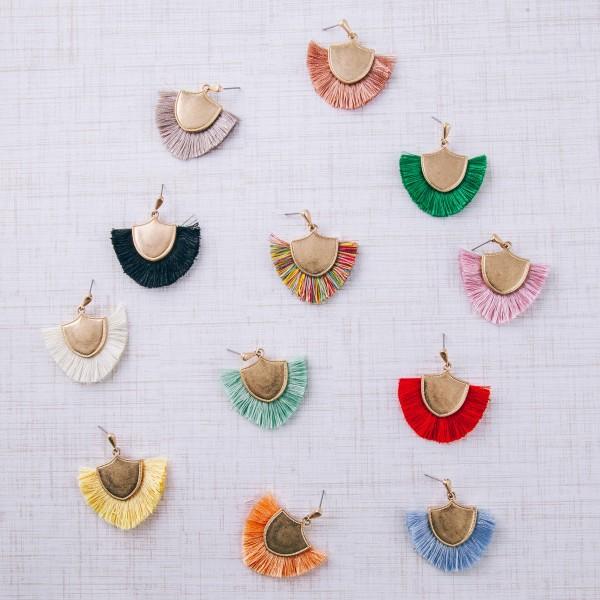"""Fringe tassel drop earrings.  - Approximately 2"""" in length"""