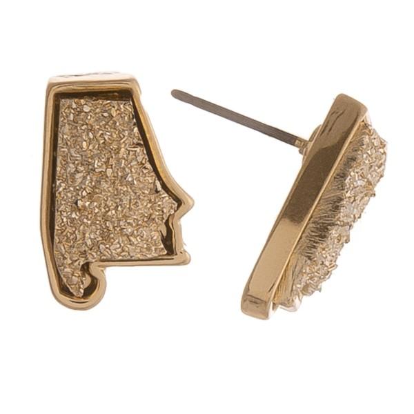 "Alabama druzy stud earrings.  - Approximately .5"" in size"