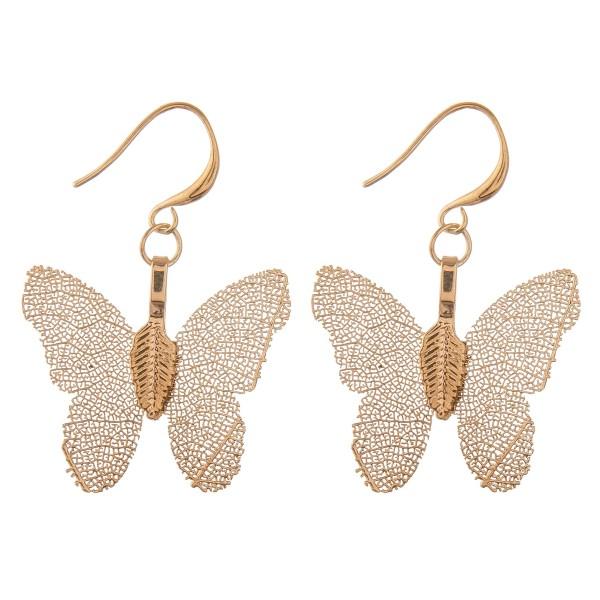 """Butterfly filigree drop earrings.  - Approximately 1.5"""" L"""