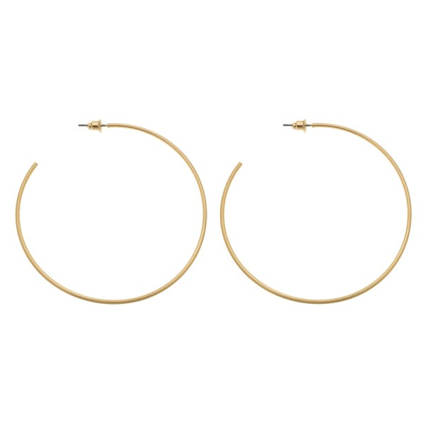Wholesale satin Gold Statement Hoop Earrings diameter