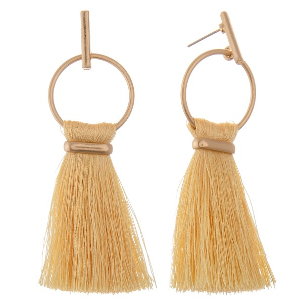 Wholesale fringe fan tassel bar stud drop earrings L