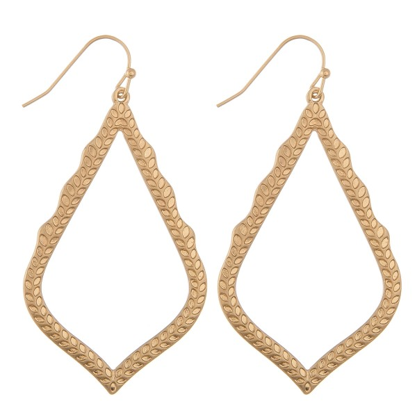 """Metal filigree textured moroccan drop earrings.  - Approximately 2.5"""" in length"""