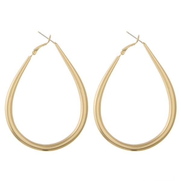 """Large teardrop hoop earrings.  - Approximately 2.75"""" L"""