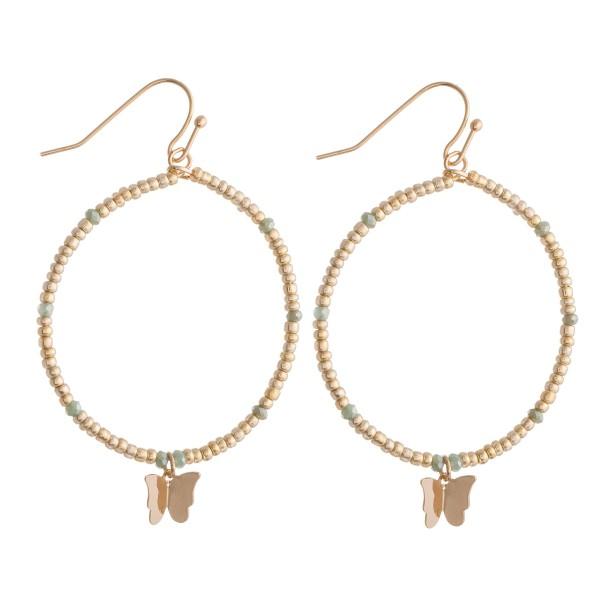 Wholesale beaded Drop Earrings Butterfly Detail L diameter