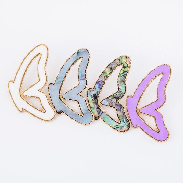 "Butterfly match drop earrings.  - Stud post - Approximately 2.75"" L"