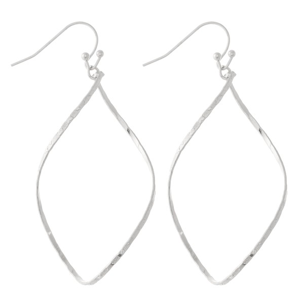 """Brass Metal Curved Teardrop Earrings.  - Approximately 2.25"""" L"""