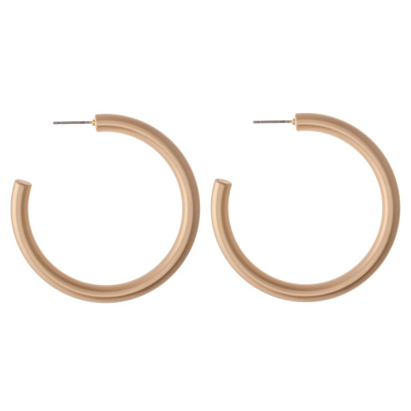 """Hoop Earring in a Matte Finish.  - Approximately 2"""" in diameter - Hoop Thickness 3mm"""