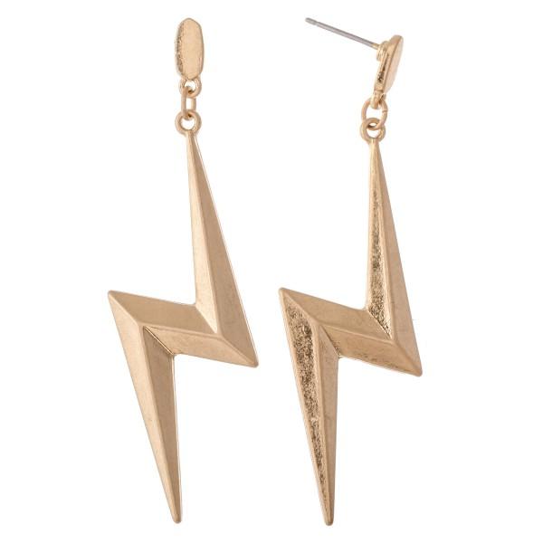 Wholesale lightning bolt drop earrings L