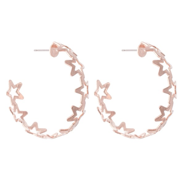 Wholesale star Cut Hoop Earrings diameter