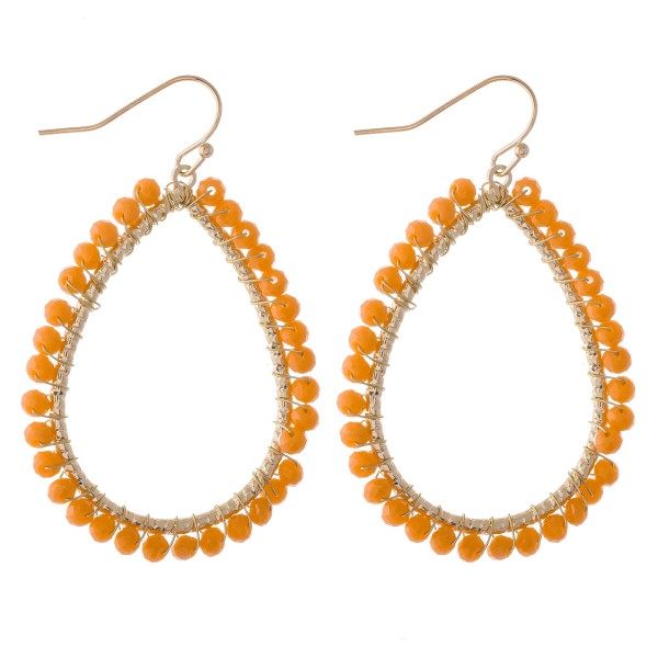 """Beaded teardrop earrings.  - Approximately 2"""" L"""