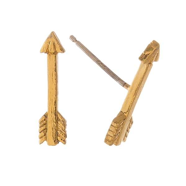 """Gold dipped arrow stud earrings.  - Approximately .5"""" L"""