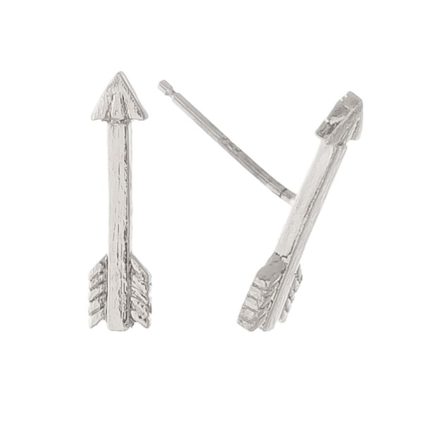 """White Gold dipped arrow stud earrings.  - Approximately .5"""" L"""