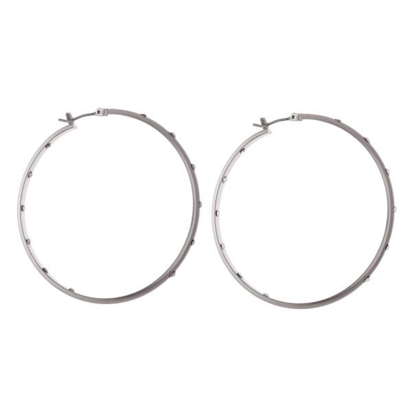 Wholesale outer Inner Rhinestone Hoop Earrings diameter