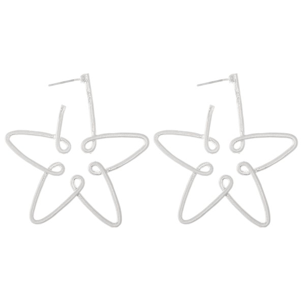 Wholesale star Wire Hoop Earrings L