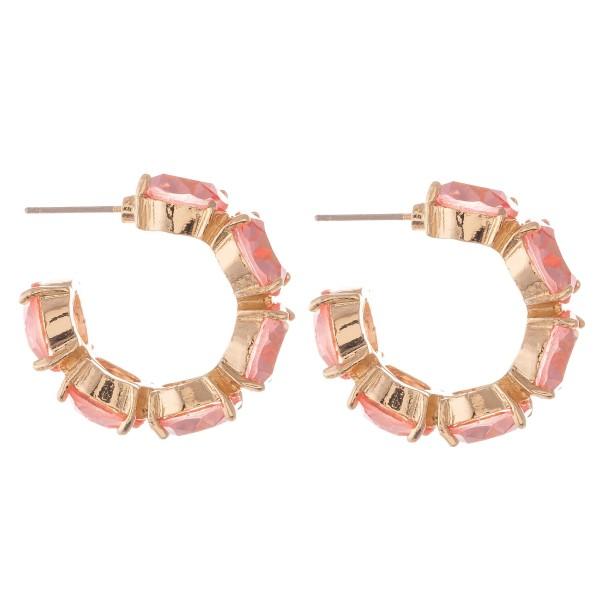 """Rhinestone Statement Hoop Earrings.  - Approximately 1"""" in diameter"""