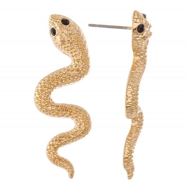 """Designer inspired snake drop earrings.  - Approximately 1.5"""" L"""