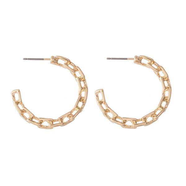 Wholesale chain Link Hoop Earrings diameter