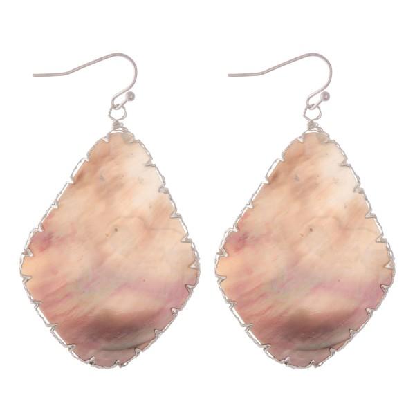 """Abalone Shell teardrop earrings.  - Approximately 2.5"""" L"""