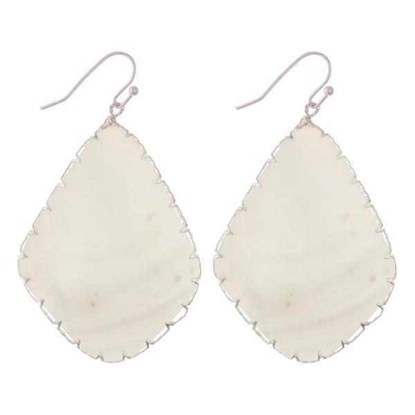 """Mother of Pearl teardrop earrings.  - Approximately 2.5"""" L"""