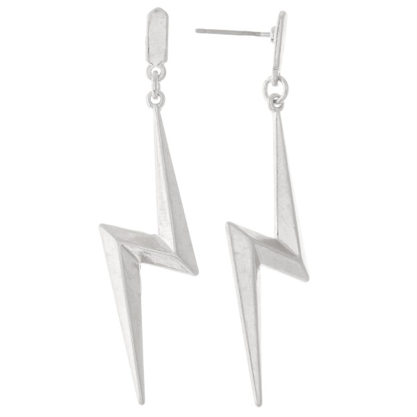 Wholesale metal Lightning Bolt Drop Earrings L