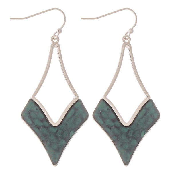 """Foundry Patina Hammered Drop Earrings.  - Approximately 2"""" L"""