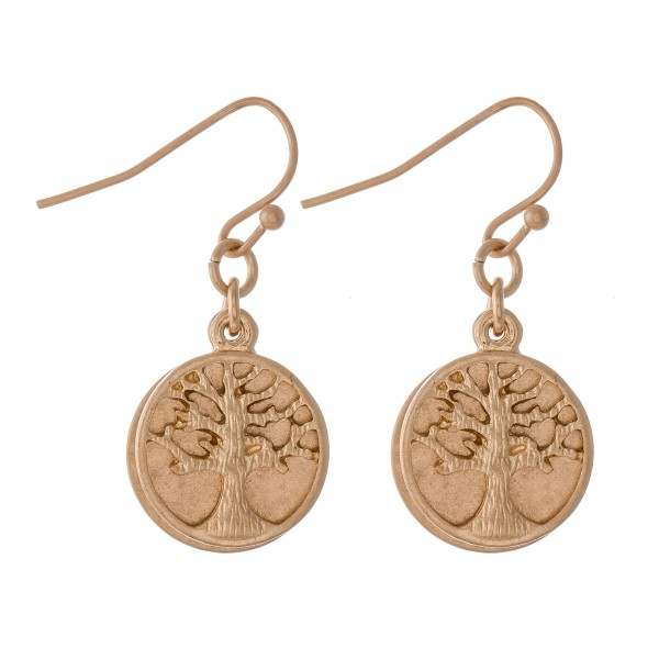 "Short Tree of Life Dangle Earrings.  - Approximately 1"" L"