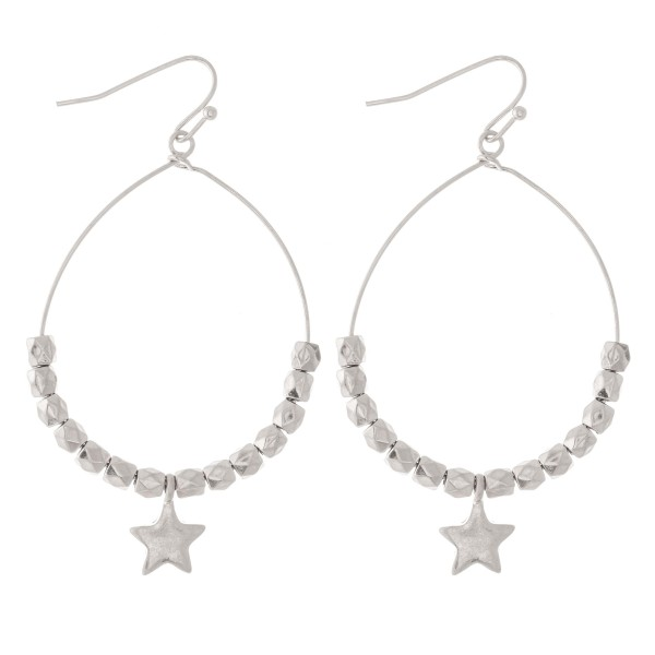 "Beaded Star Drop Earrings.  - Approximately 2.5"" L - Approximately 1.5"" in diameter"