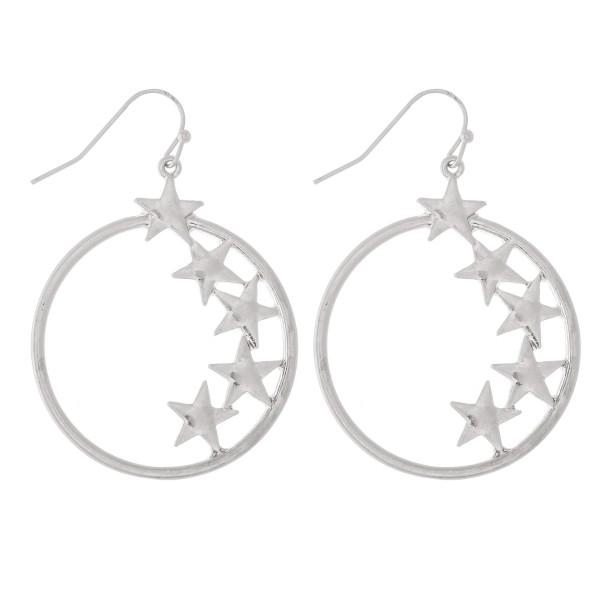 Wholesale inner Star Drop Earrings L diameter